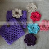 Wholesale beautiful handmade crochet trim boot socks for girls