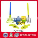 2016 plastic garden tool set toy for kid pretend gardener play toy