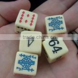 plastic16mm Poker Dice Set,10 sides custom color dice