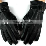 men fashion bicycle black leather driving Gloves