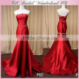 Red satin chinese wedding dress mother of the bride