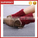 V-908 Lovely girls leg warmer hot sell knited women leg warmers wholesale open knit boot socks