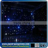 HOT WLK-2W Blue fireproof Velvet cloth White leds backdrop led white wedding star light curtain