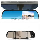 Dual-lens car black box 1080p manual car inside manual rearview mirror camera hd dvr with G-sensor Loop Recording