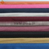 low MOQ suede 100 polyester fabric for home textile ,pure color soft touch synthetic suede fabric