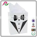 Unique Wedding Tuxedo and Gown Printed Wedding Favor Bags,Paper Gift Carry Bags