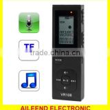 Support TF Card Telephone recording Digital Voice Recorder MP3 Player with 4GB Memory