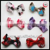 fashion heart print ribbon mini baby hair bow clip girls barrette