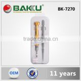 2 in 1 Mini cordless Screwdriver set with Tweezer in one box BK 7270 BAKU 2016 New Product
