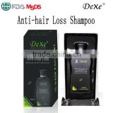 2016 hot top sale Dexe of 200ml anti hair loss shampoo, mild herbal shampoo brands,wholesale hair loss shampoo