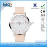 Fashion Genuine Leather Ladies And sapphire Glass Custom Logo Watch