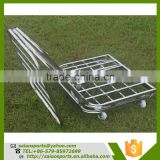 sporting goods Foldable basketball trolley , basketball ball cart For Storage Balls