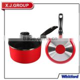 Hot Sale Spiral Bottom Aluminum Non-stick Saucepan with bakelite handle XJ-13619