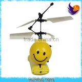 HY-821 Best Gift for kids Huiying Newest Flying LED Football and smile face flying helcopter toy for kids