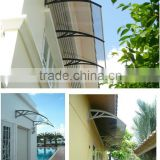 china canopy pc awning polycarbonate plastic ,black brackets ,outdoor awning