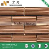 split tiles split tile split brick terracotta facade exterior wall tiles, terracotta red brick wall tile