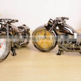 fashion home decor motorcycle desk alarm time clock