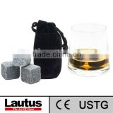 2013 new product ice whiskey stones cut from nature soapstones with FDA certification/drinking stone