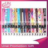 Customized Print LANYARD Key Chain ID Stars Hearts Peace Signs Flowers Holiday With All Colors