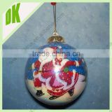 All our items are shipped in protective packaging Christmas glass led glass ball with snowman