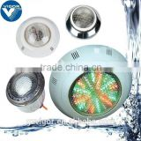 2.Factory wall mounted(Flat type) round underwater pool light LED (halogen light bulb & 144 LEDs light panel)for concrete pool &