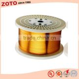 Polyimide film wrapped copper rectangular wire for reactors and similar electrical instrument
