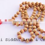 pure-wood bead necklace/sandalwood japa beads/sandalwood mala prayer beads