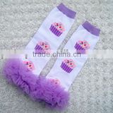 Popular legwarmers with ruffles cotton leggings infant leg warmers
