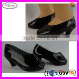 B052 Shiny Black High Heeled Shoes Made American Girl Doll High Heel Shoes