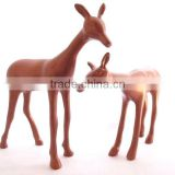 Christmas decoration deer aluminium bronze finish gift item figurine