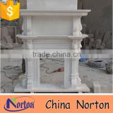 indoor decorative white marble double fireplace mantel NTMF-F853S