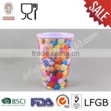 Candy cup Melamine milk mug	, led flashing glowing light up champagne melamine drinking cup