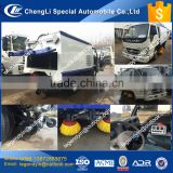 CLW automatic cleaning 4x2 small road sweeper car truck with 4 sweeper brush vaccum suction fan