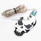 NEW Black Skull Tattoo Power Supply Foot Switch Pedal Flat Stainless Steel