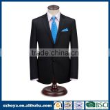 New style wedding dress suits for men black coat pant men suit 10 years experience with SGS BSCI