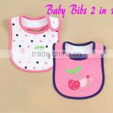 2015 Summer Design Embroidery Newborn Baby Waterproof Bibs Cotton Directly from Kids Clothes Supplier