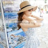 Wholesale folding hat summer beach holiday sunhat straw hat
