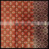 Golden Powder Pink & Red Flowers Traditional Indonesian Bali 100% Cotton Batik Fabric