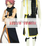 Rose-team Fantasia Anime Cosplay Made Fairy Tail Natsu Dragneel Teenage Wizard Uniform Cosplay Costume