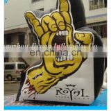 pvc hot sealed inflatable middle finger hand giant inflatable hand