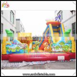 High Quality jumping house zoo park bouncer castle for kids inflatable animal dinosaur theme combo bouncy house