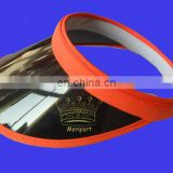 2013 hot sell plastic visor hat with UV protection by pink brim and friendly PVC material