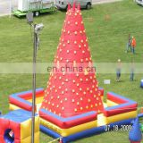 Big PVC inflatable sports games rock mountain inflatable climbing wall