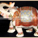 Marble Handicrafts Elephant Statue