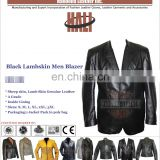 High Quality Custom Designed Men's Plain Leather Blazer