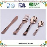 18 Piece Plastic Gold Flatware Set Looks Like Gold Plastic Cutlery Solid Durable Includes 6 Forks 6 Knives 6 Spoons
