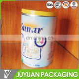 2015 new product cylinder Iron tin can for milk powder tin packaging with airtight tin cap