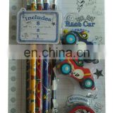stationery set for kids( pencil,eraser,sharpener)