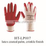 safety gloves/the best selling latex palm coated gloves/ good quality latex palm coated gloves