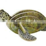 Promotional DIY 3D wooden toy mini animal Sea Turtle
